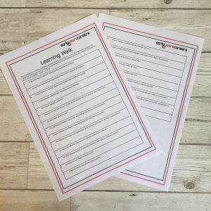 126 Learning Walk Sheet