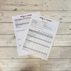 154 On entry assessment form