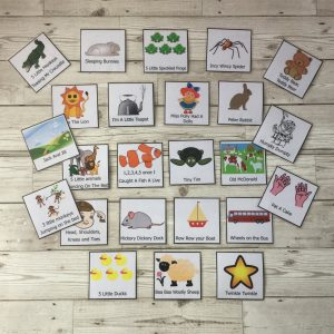 224 Nursery Rhyme Picture Cards