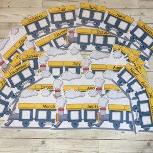 236 Train Birthday Board