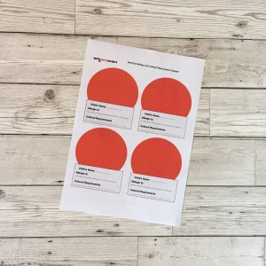 Red Dot Allergy and Cultural Requirement System 109
